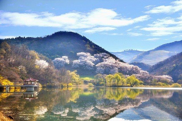 korejské jezero