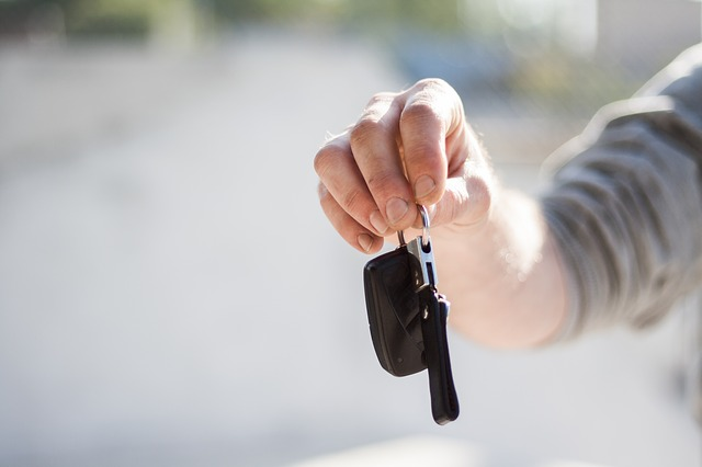klíčky od nového auta
