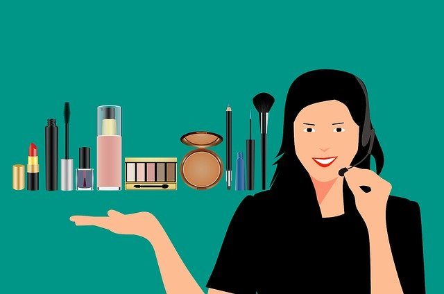 dívka a kosmetika