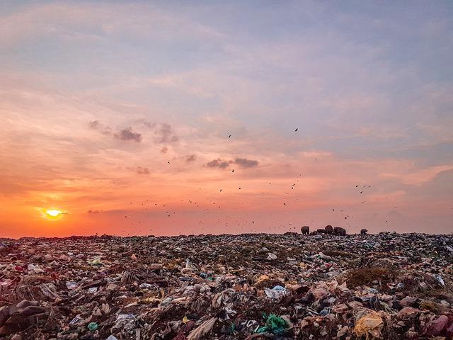 skládka igelitového odpadu